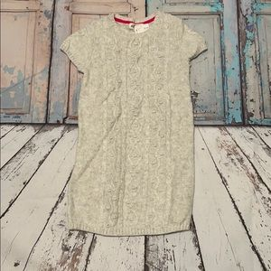 H&M Girl's Sweater Dress, Light Gray, Size 6-8